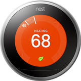 Google, T3008US, Nest Learning Thermostat, 3rd Gen, Smart Thermostat, Pro Version