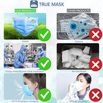 50 Pcs Disposable Face Mask - Anti-Dust Filter, Breathable, 3 Layers of Purifying