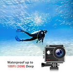 Campark Action Camera Native 4K Wifi Waterproof Underwater Camera 30M 16MP