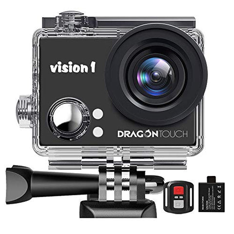 Dragon Touch 1080P Action Camera 12MP Underwater Waterproof Camcorder