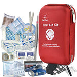 DeftGet First Aid Kit - 163 Piece Waterproof Portable Essential Injuries & Red Cross Medical Kit