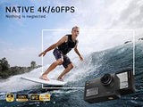 VanTop Moment 6S 4K/60FPS Action Camera with EIS, Dual Screen, External Microphone