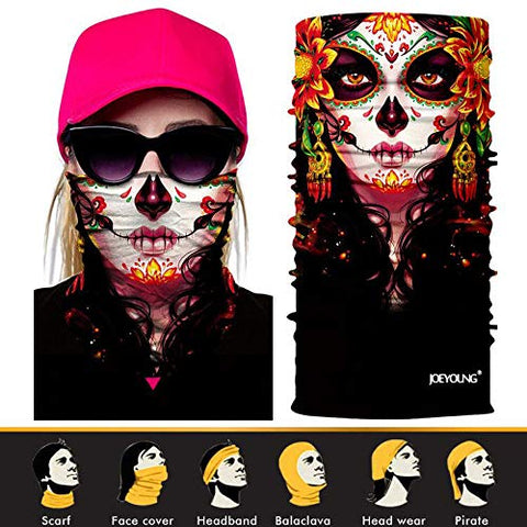 JOEYOUNG 3D Face Sun Mask, Neck Gaiter, Headwear, Magic Scarf, Balaclava