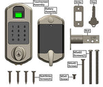 SCYAN D5 Fingerprint Touchscreen Keypad Deadbolt Lock Satin Nickel, D5-SN