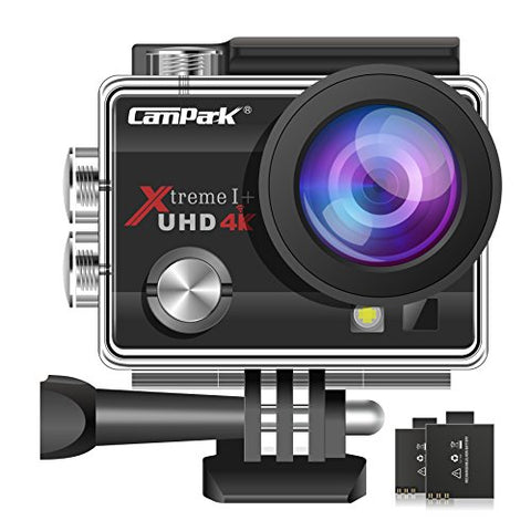 Campark ACT74 Action Camera 4K Ultra HD WiFi Underwater Waterproof Camera 16MP