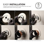 elago Wall Plate Cover for Google Nest Thermostat Wall Plate (Matte White)