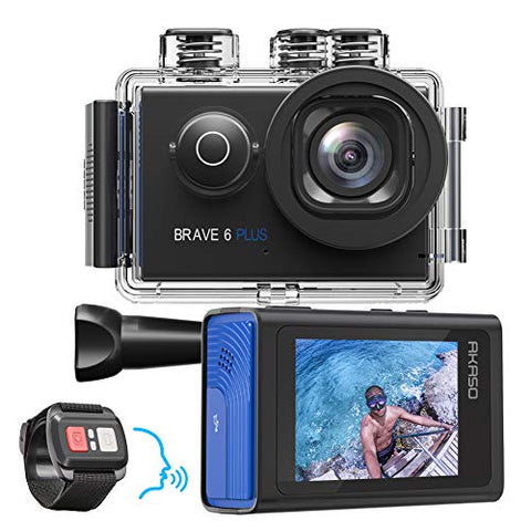 AKASO Brave 6 Plus Native 4K30FPS 20MP WiFi Action Camera with Touch Screen