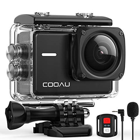COOAU Native 4K 60fps 20MP Wi-Fi Action Sports Camera with 8XZoom