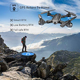 Foldable GPS Drone with 4K Camera for Adults,Zuhafa T5,RC Quadcopter with GPS RTB