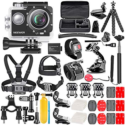 Neewer G1 Ultra HD 4K Action Camera Kit Includes 98 ft Underwater Waterproof
