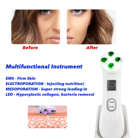 Mesotherapy Electroporation RF Radio Frequency LED