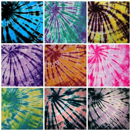 tie dye bandana options
