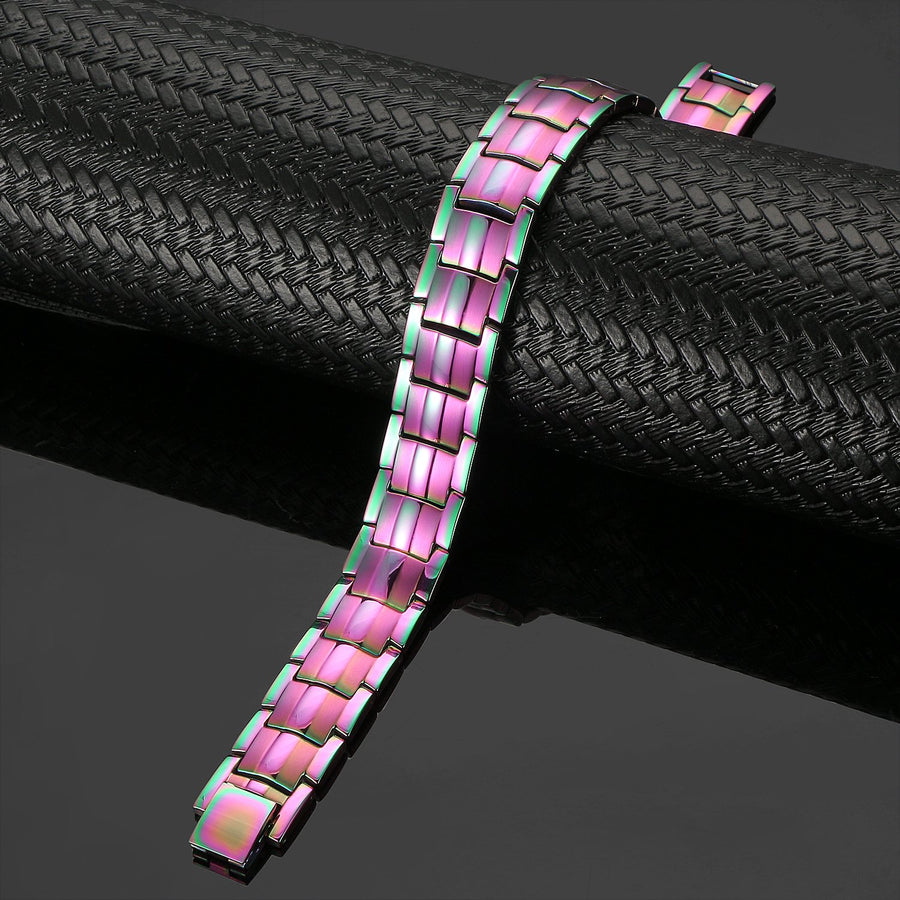 Rainbow Titanium 4in1 Magnetic Therapy Bracelet