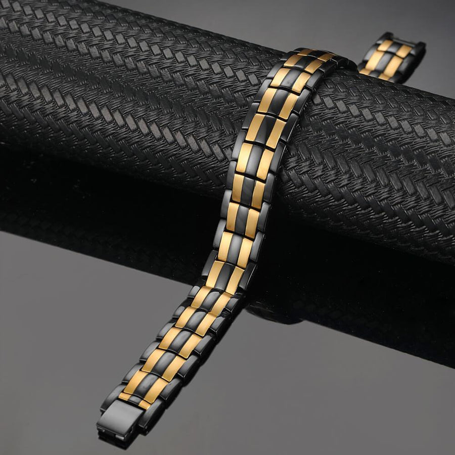 Black Gold Bracelet Mens