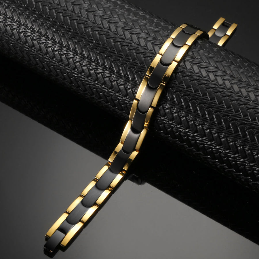 Synergy Black Gold Stainless Bracelet-GaussTherapy