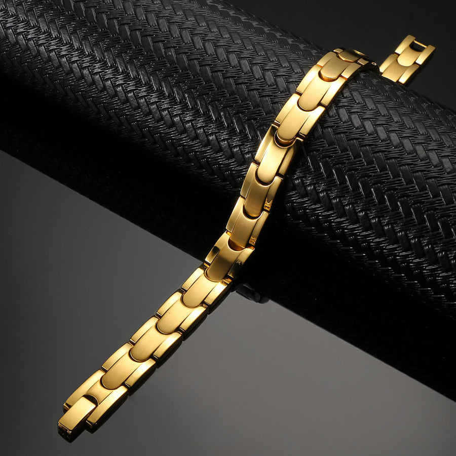 Synergy Gold Stainless Steel Magnetic Bracelet-GaussTherapy