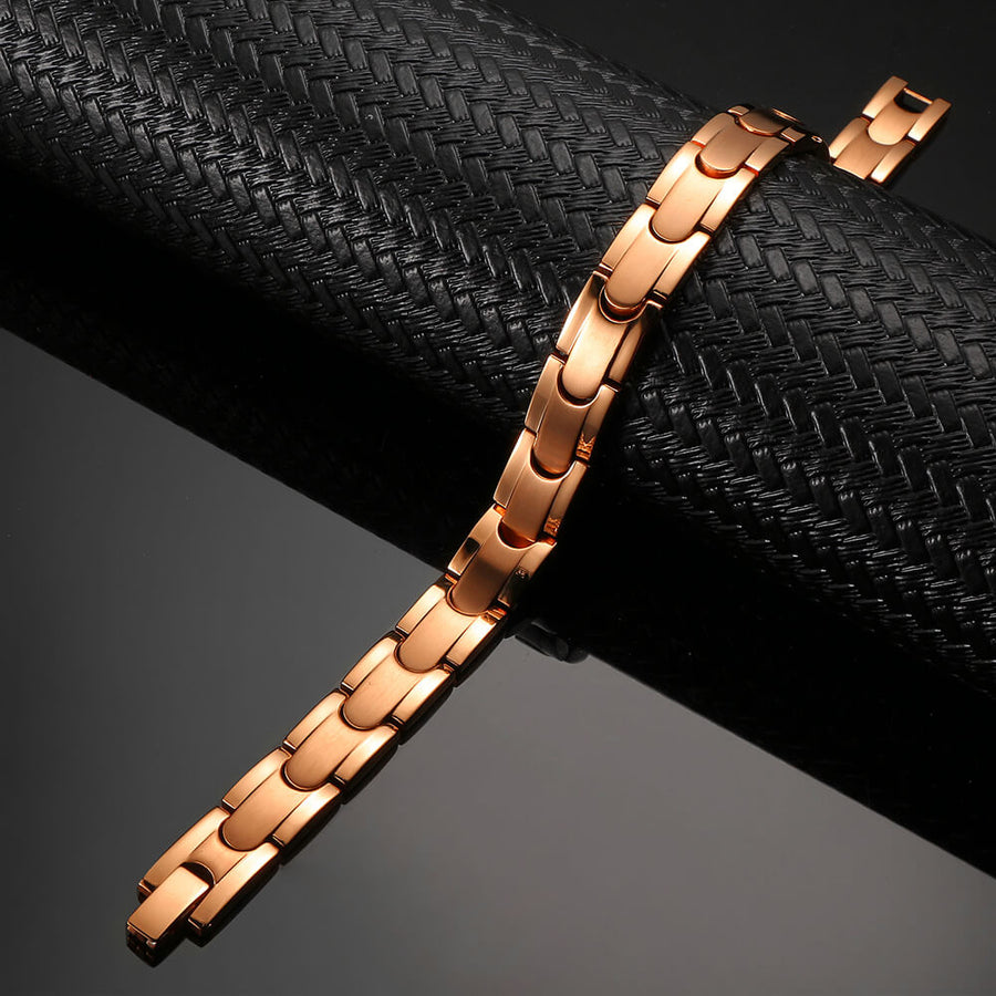 Synergy Rose Gold Stainless Bracelet-GaussTherapy