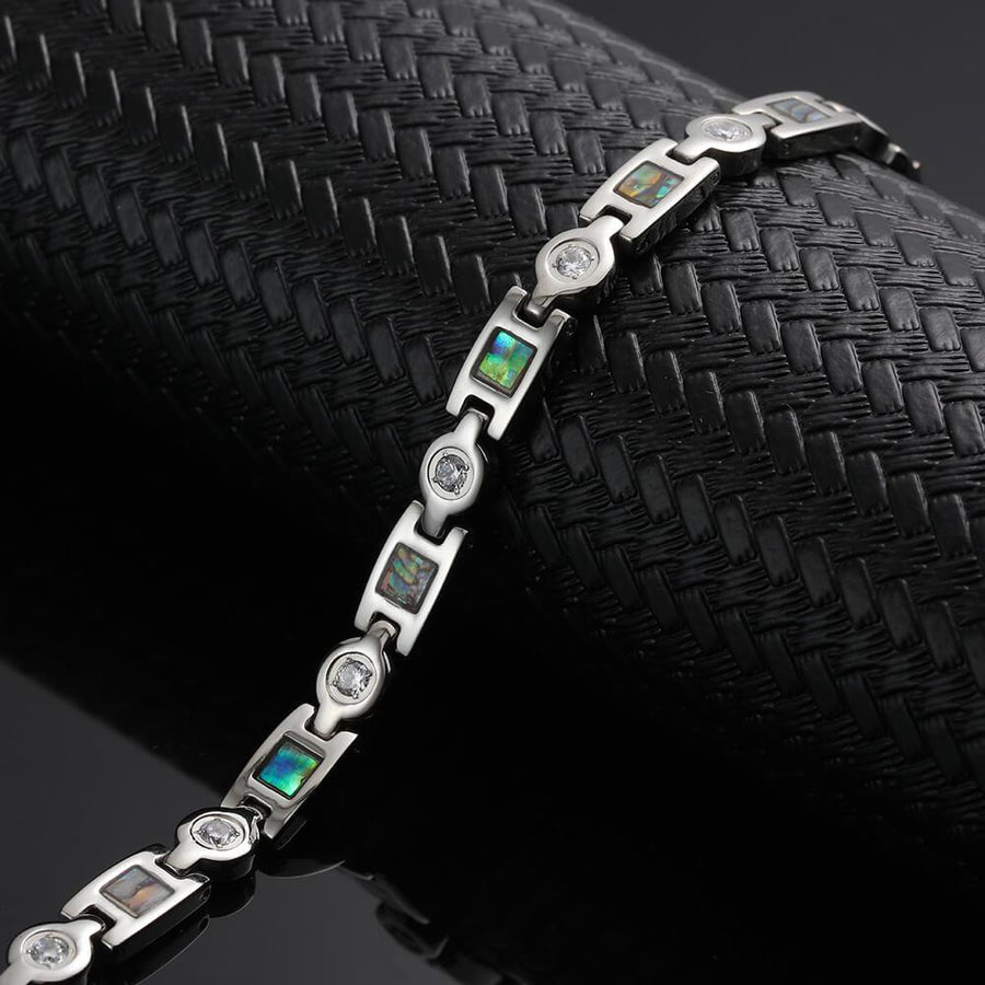 Trinity Silver Stainless Steel Magnetic Bracelet-GaussTherapy