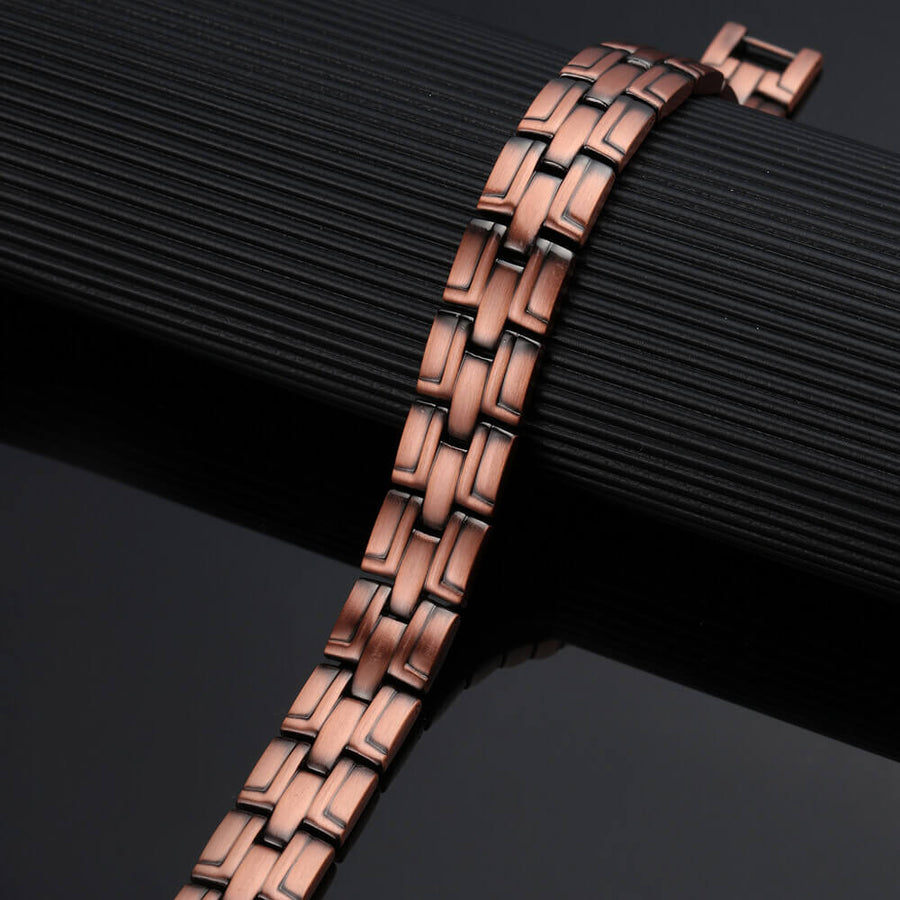 Unisex Copper Link Full Magnetic Therapy Bracelet-GaussTherapy