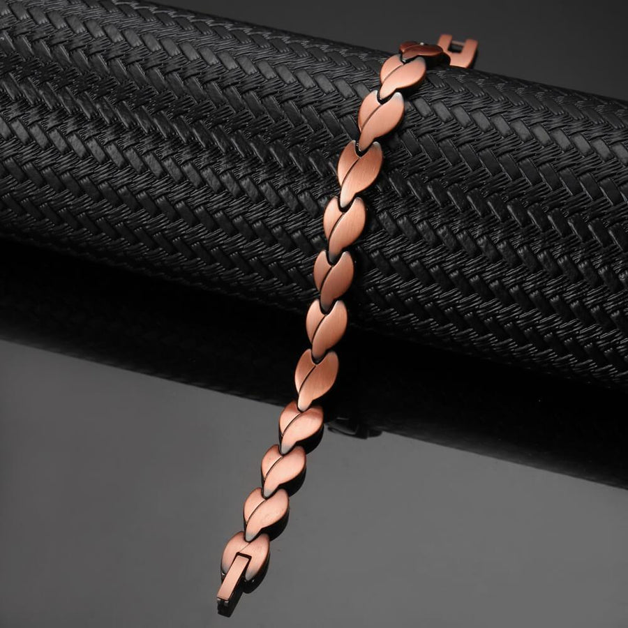 Womens Charming Copper Magnetic Bracelet-GaussTherapy