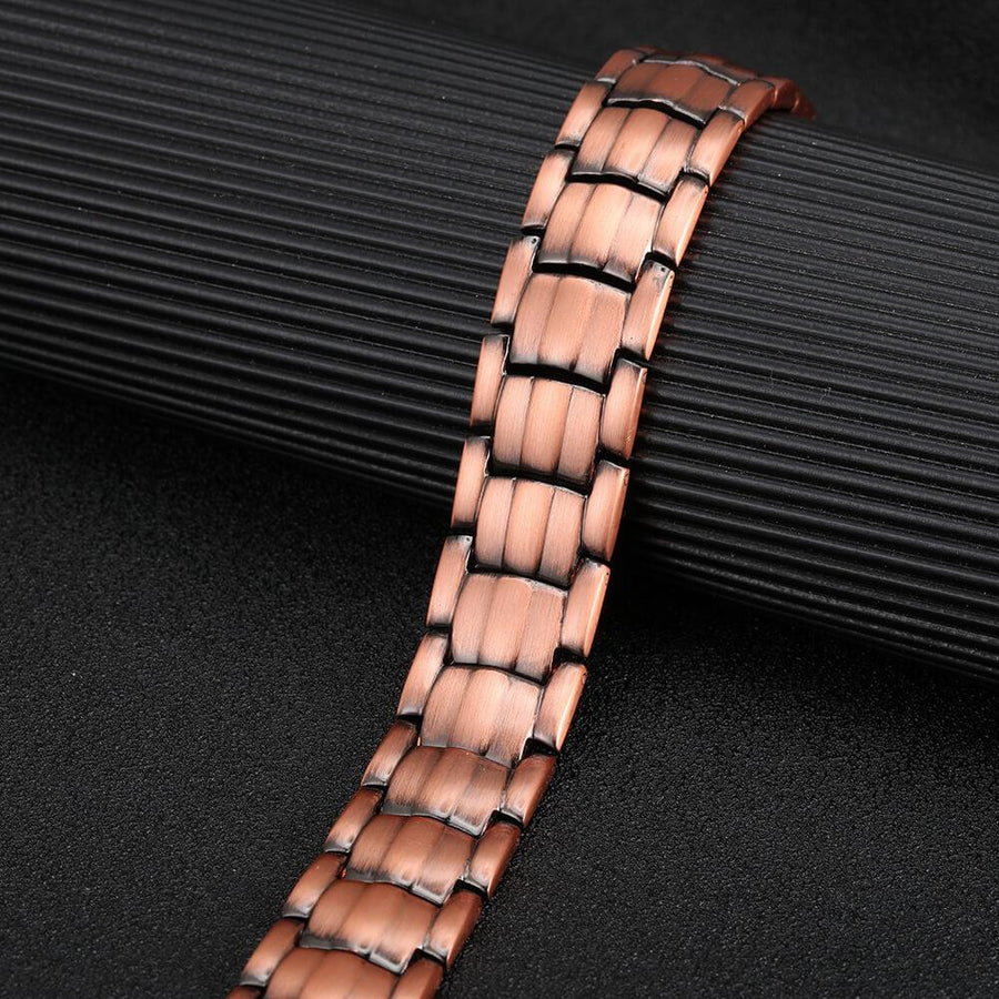 Quality Copper Double Row Magnetic Bracelet-GaussTherapy