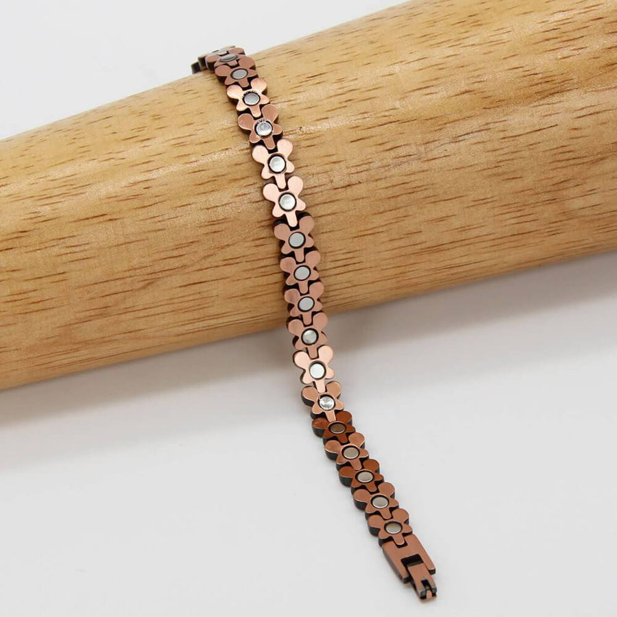 Female Butterfly Design Copper Magnetic Bracelet-GaussTherapy