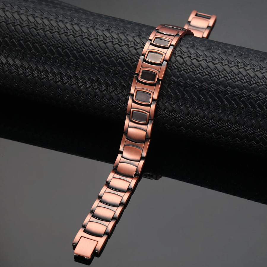 Mens Divine Copper Link Fully Magnetic Bracelet-GaussTherapy