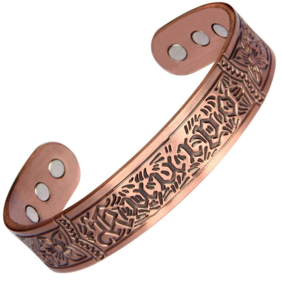 Vintage Chunky Magnetic Copper Bangle-GaussTherapy