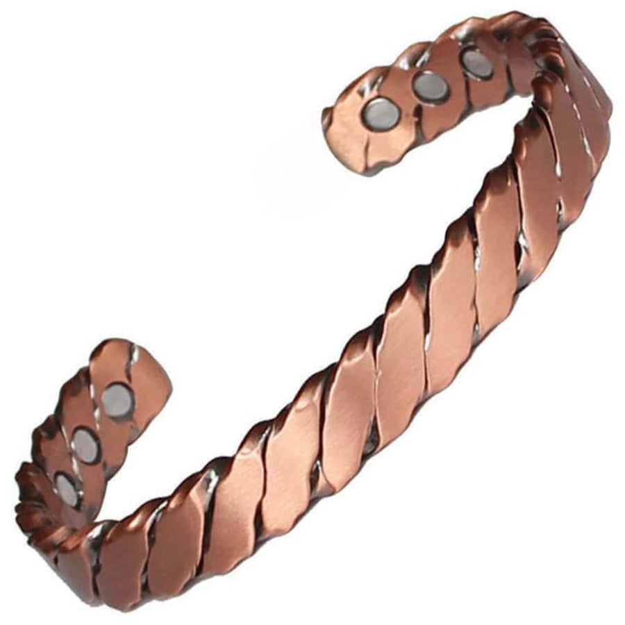 Trendy Twisted Copper Magnetic Bangle-GaussTherapy