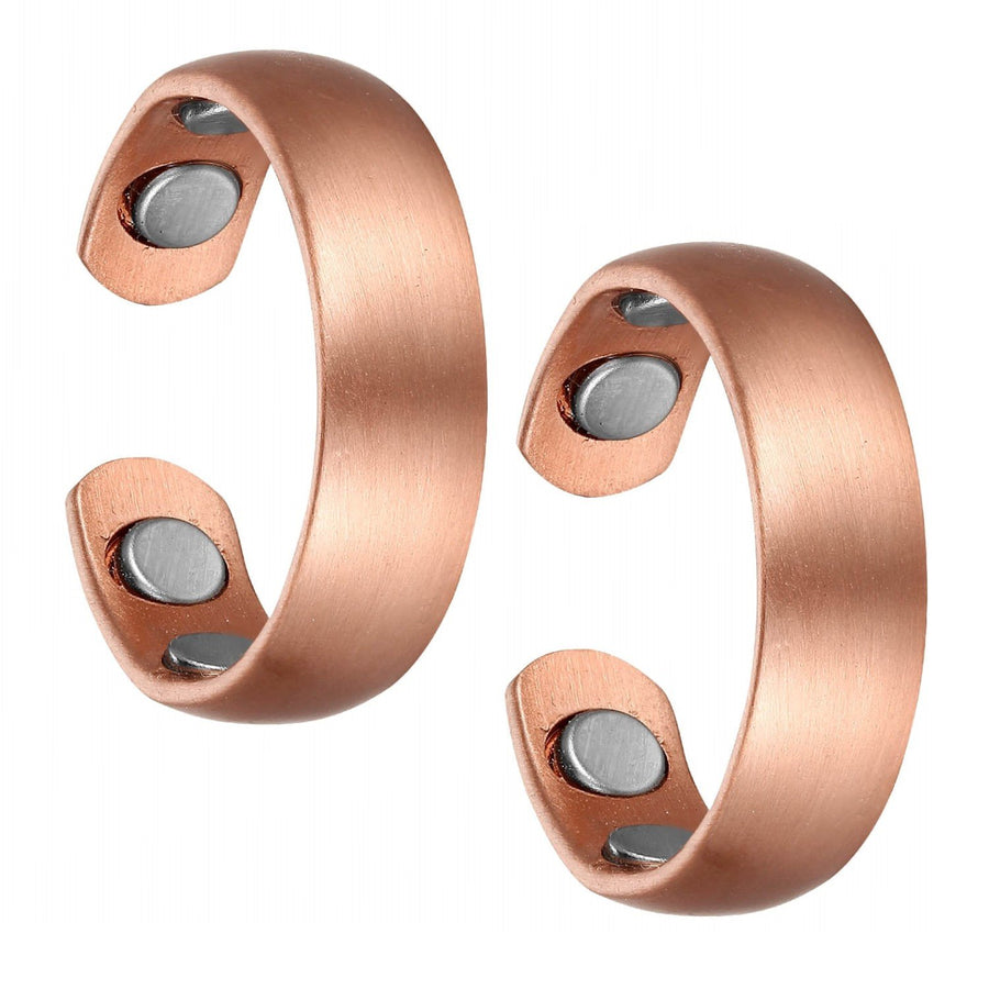 Set of Two - Rounded Copper Magnetic Rings-GaussTherapy