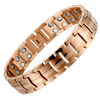 Unisex Gold Titanium Fully Magnetic Therapy Bracelet-GaussTherapy