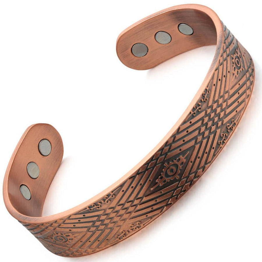 Copper Bangle With Magnets