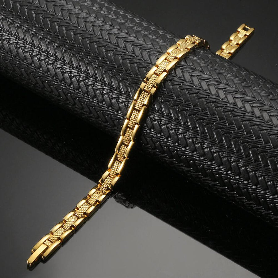 Affinity Gold Stainless Steel Magnetic Bracelet-GaussTherapy