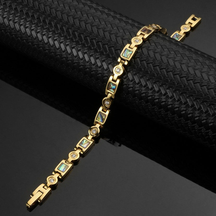 Trinity Gold Stainless Steel Magnetic Bracelet-GaussTherapy