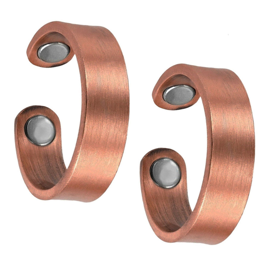 Set of Two - Plain Copper Magnetic Rings-GaussTherapy