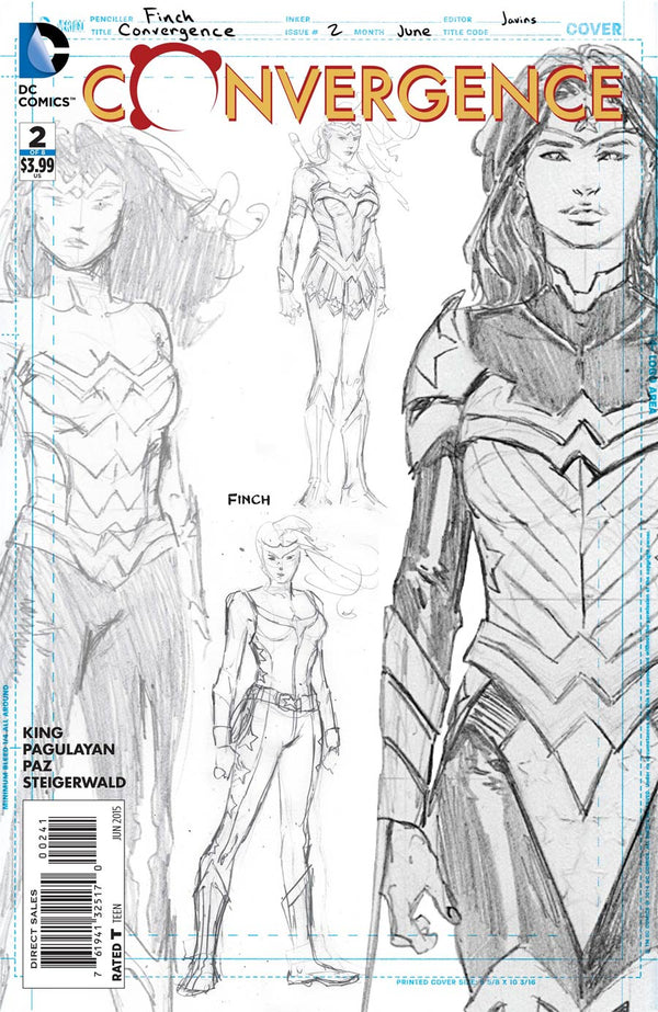 Convergence Wonder Woman #2 1:100 Finch Sketch Variant