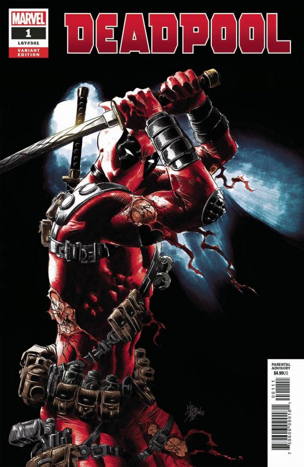 Deadpool #1 (2008) 1:25 Mike Deodato Variant