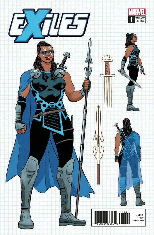 Exiles #1 1:10 Rodriguez Valkyrie Design Variant
