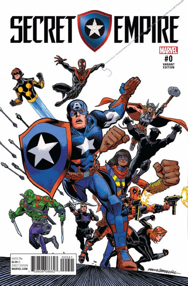 Secret Empire #0 1:20 Ron Frenz Variant