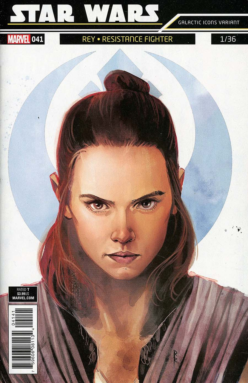 STAR WARS #41 Rod Reis Galactic Icons Rey Resistance Fighter Variant