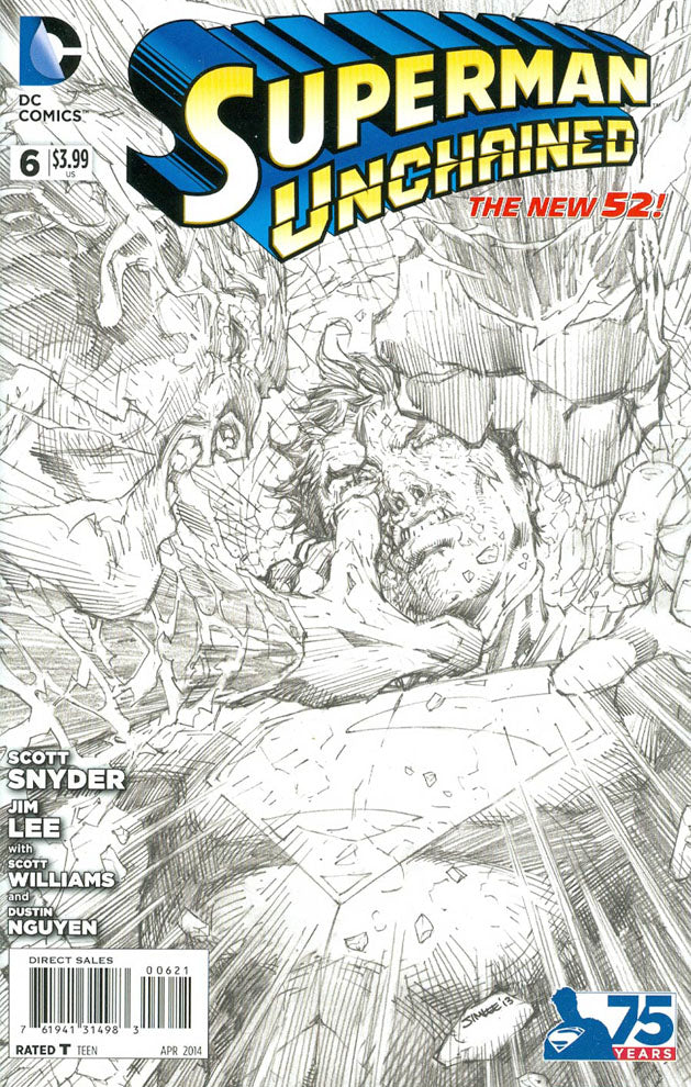 Superman Unchained #6 Limited 1:300 Jim Lee Sketch Variant