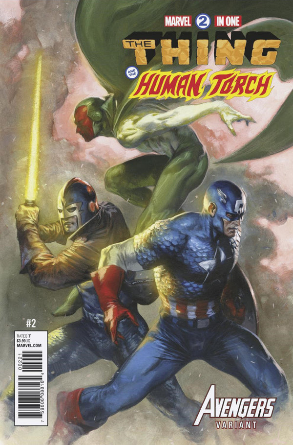 Marvel Two In One #2 (2017) Human Torch And Thing Dell'Otto Variant