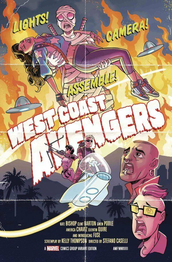 West Coast Avengers #2 1:25 Fleecs Movie Poster Variant