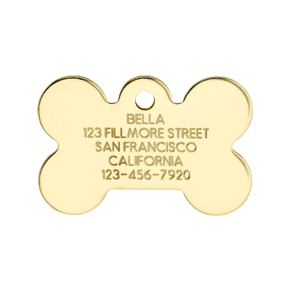 Love Your Pets Classic Bone Tag - Stainless & Brass freeshipping - Love Your Pets