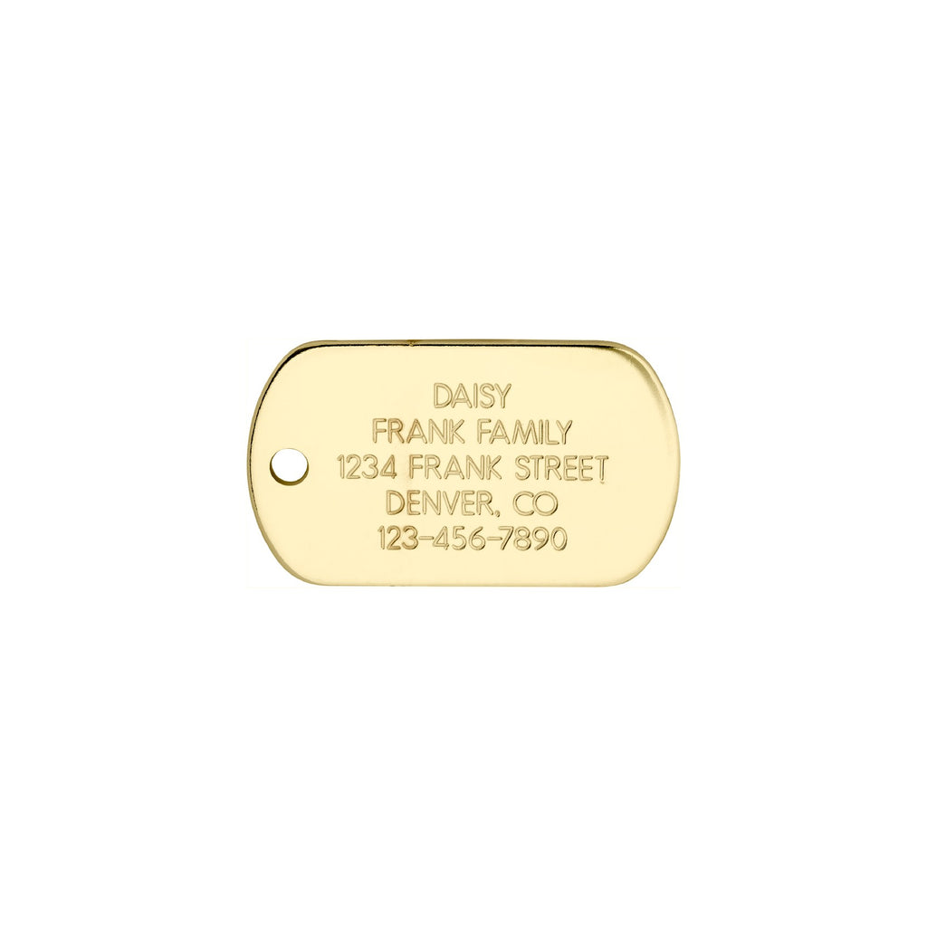 Love Your Pets Classic Mini Dog Tag - Stainless & Brass freeshipping - Love Your Pets