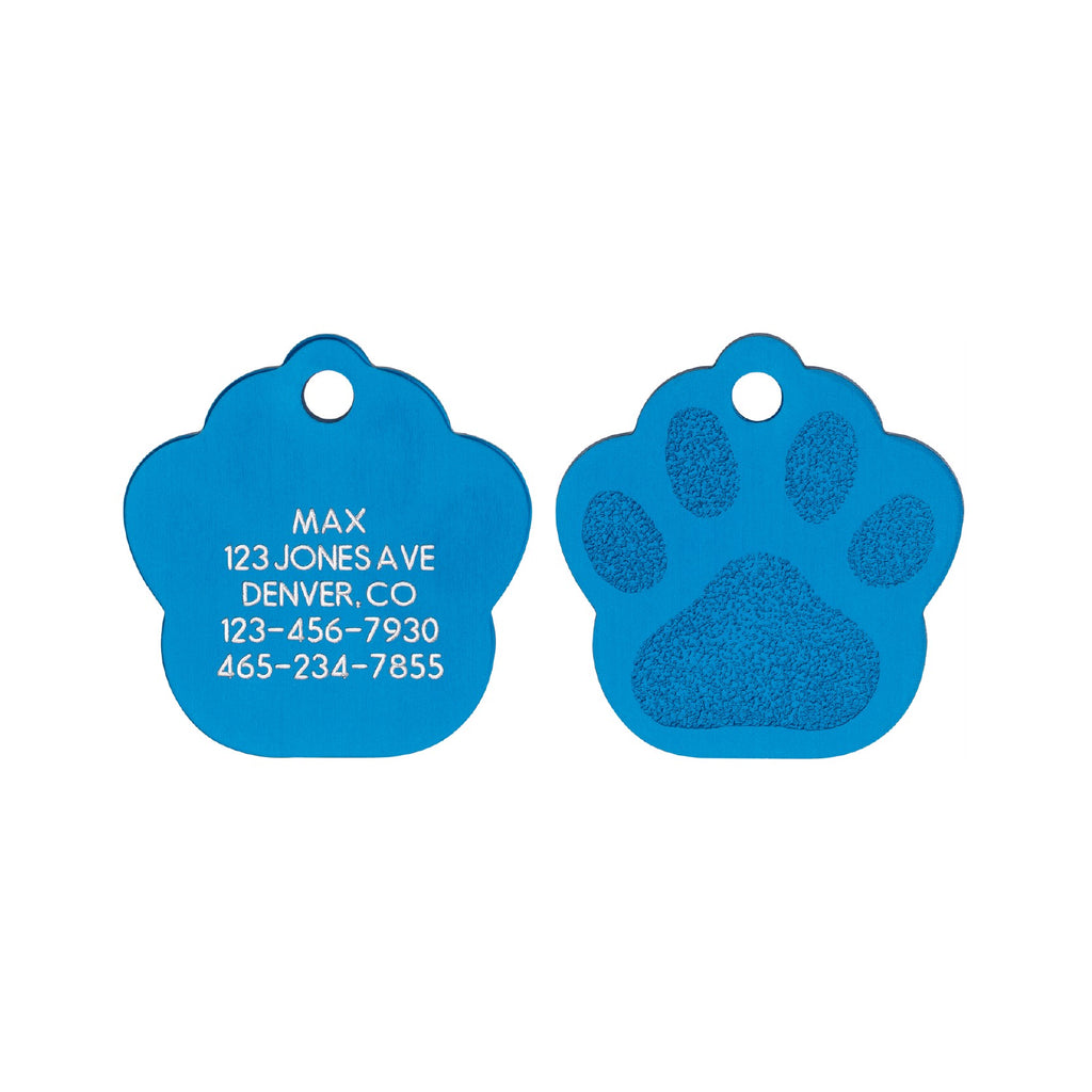 Classic Paw Tag - Aluminum Love Your Pets