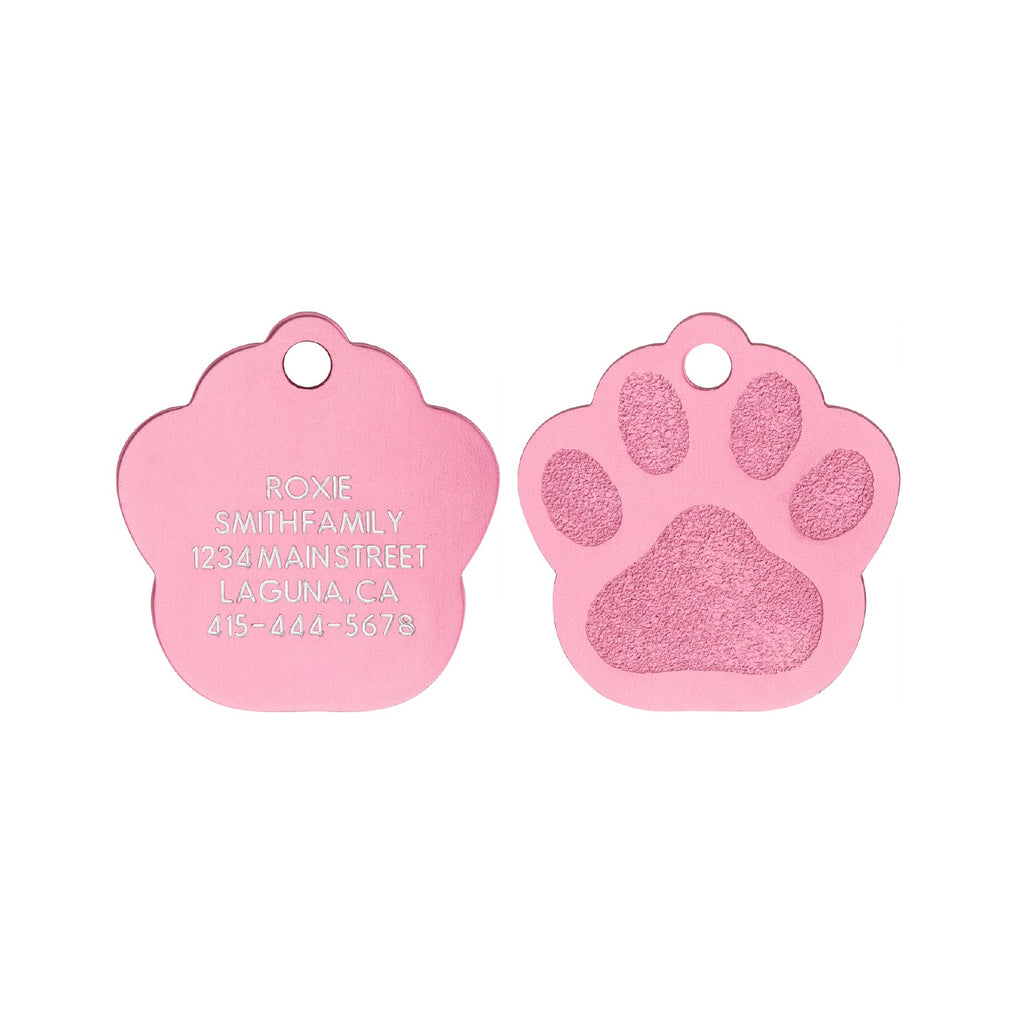 Love Your Pets Classic Paw Tag - Aluminum | Multiple Colors Available freeshipping - Love Your Pets