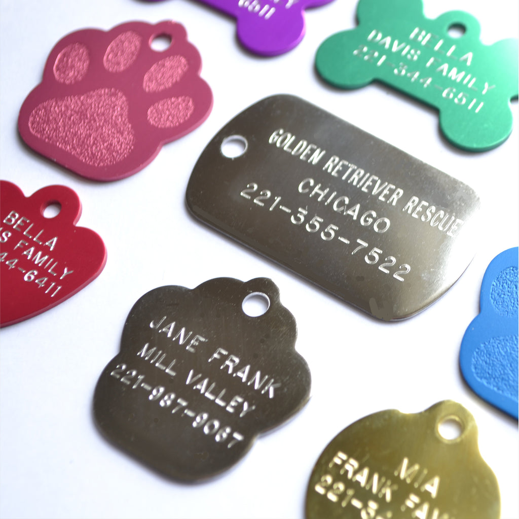 Love Your Pets Classic Paw Tag - Stainless & Brass freeshipping - Love Your Pets