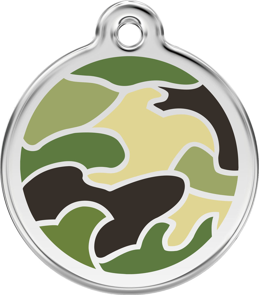 Enamel & Stainless Steel Camouflage - Multiple Colors Available freeshipping - Love Your Pets