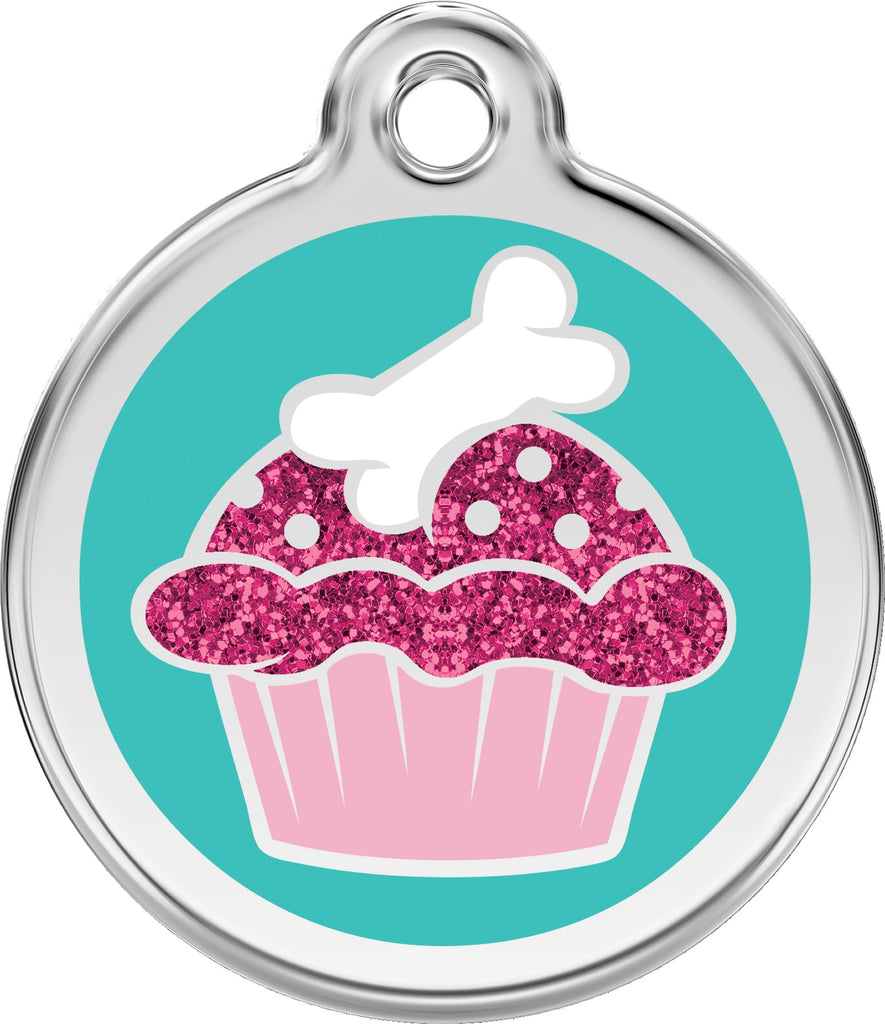 Enamel & Stainless Steel Glitter Cupcake freeshipping - Love Your Pets